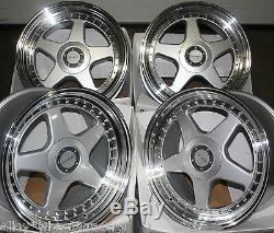 17 8.5 F5 Silver Alloy Wheels 5x98 Alfa Romeo 147 156 164 Fiat 500l
