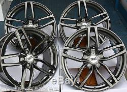 18 Gm Drs Wheels Alloy 5x98 Alfa Romeo 147 156 164 Gt Fiat 500l Doblo