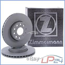 2x Zimmermann Brake Disc Front Vented Ø284 Alfa Romeo Spider 2.0 3.0 V6 95-05