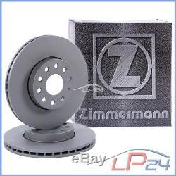 2x Zimmermann Brake Disc Ventilated Front Ø284 Alfa Romeo 147 1.6-2.0 01-10
