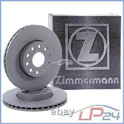 2x Zimmermann Brake Disc Ventilated Front Ø284 Alfa Romeo Spider 2.0 3.0 V6 95-05