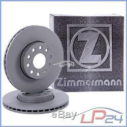 2x Zimmermann Disc Brake Front Vented Ø284 Alfa Romeo 1.6-2.5 97-06