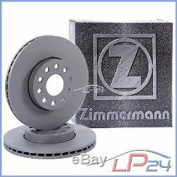 2x Zimmermann Disc Brake Front Vented Ø284 Alfa Romeo 147 1.6-2.0 01-10