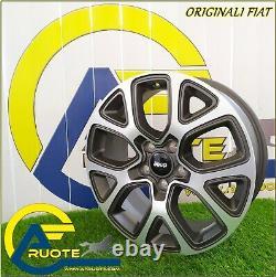 4 Original Fiat Alloy Wheels From 17 X Alfa Romeo Juliet 500x Jeep