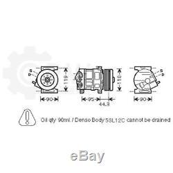 Compressor Air Conditioning Compressor Alfa Romeo Fiat Punto Evo 955 263