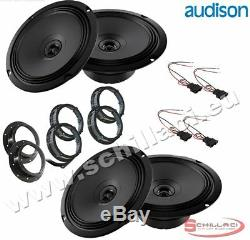 Kit 4 HP Audison Loudspeaker Speakers For Fiat / Alfa Romeo / Lancia / Opel