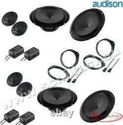 Kit 8 HP Audison Speaker Speakers For Fiat / Alfa Romeo / Lancia / Opel
