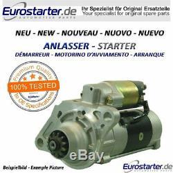 New Starter 12v 1.1kw Oe Nr. 8000048 For Alfa Romeo, Fiat, Opel, Vauxhal