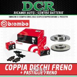 Set Front Brake Pads And Discs Brembo Alfa Romeo 147 (937) 1.9 Jtdm 16v 150hp