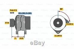 Bosch Remanufacturé Alternateur 0986046140 4614 Véritable 5 An Garantie