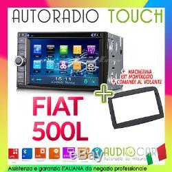 Car Radio 6.2 Fiat 500L GPS Toucher MP3 / SD/USB / DVD / Bluetooth / RDS /