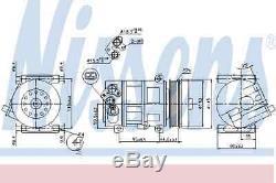 Compresseur Air Conditionné pour Fiat Alfa Romeo Opel Doblo MPV 263 Kfv Nissens