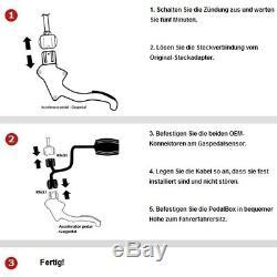 DTE Système Pedal Box 3S pour Alfa Romeo Mito 955 à partir de 07.2 1.4L 16V R4