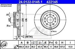 Set Disques et Plaquettes Avant ATE ALFA ROMEO 156 (932) 2.4 JTD 150HP 110KW